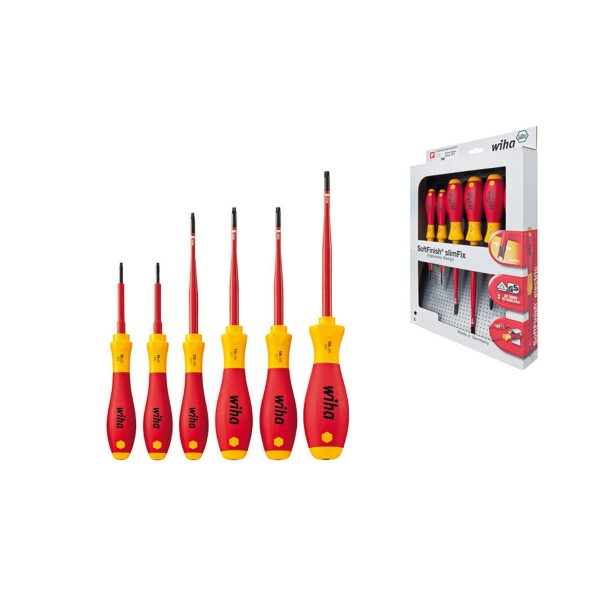 Wiha SoftFinish® electric slimFix TORX®-Schraubendrehersatz, 6-tlg. - 3251 K6
