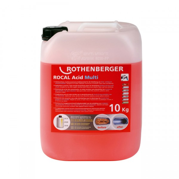 ROTHENBERGER Entkalkungschemie ROCAL Acid Multi 10 kg